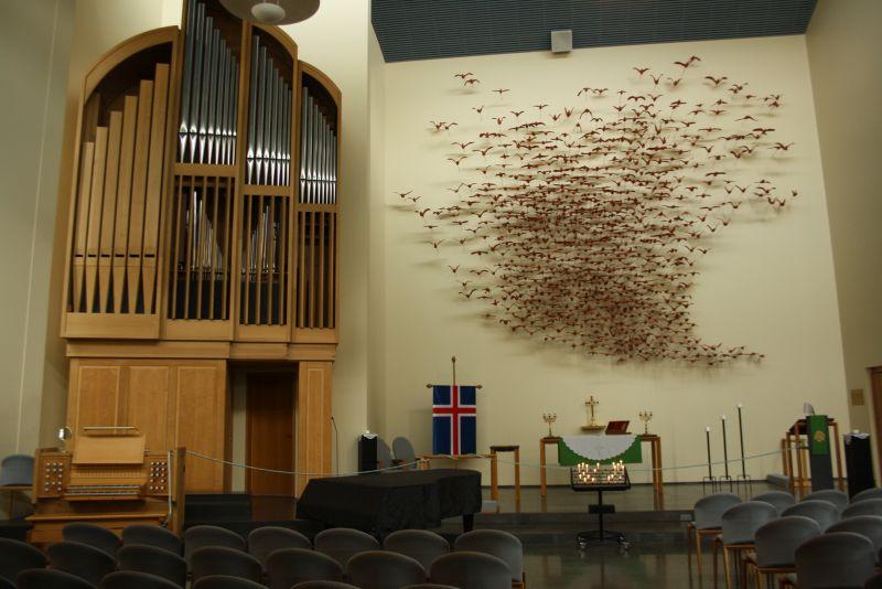 Isafjördur, Island, Kirche von innen
