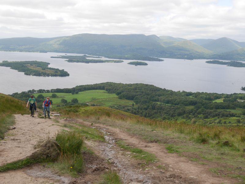 Schottland-Rundreise mit Kindern, Wandern am Loch Lomond