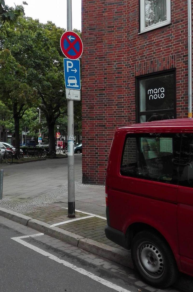 privater Behindertenparkplatz Hannover