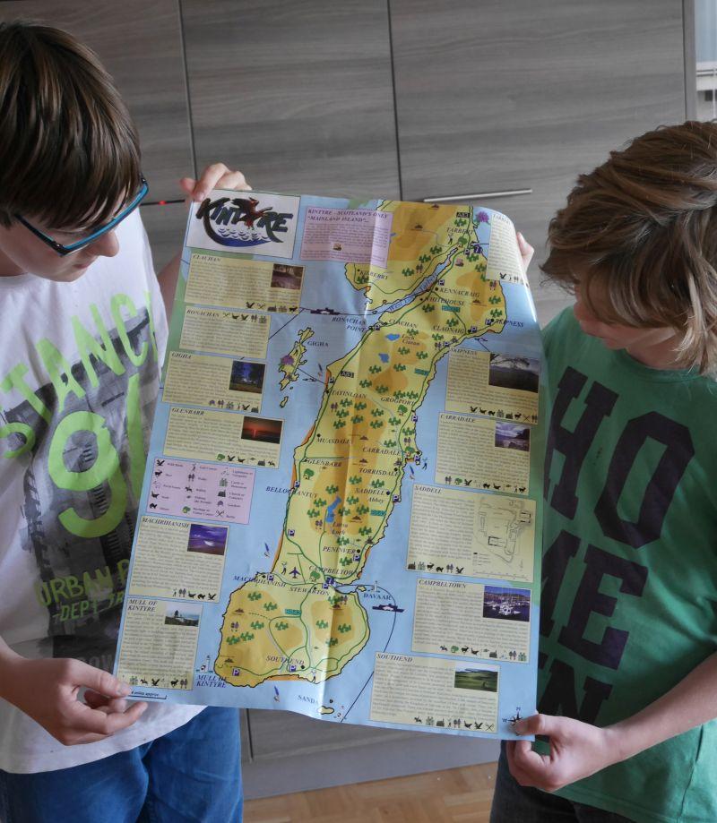 Kintyre mit Kindern, Kintyre Trail Karte