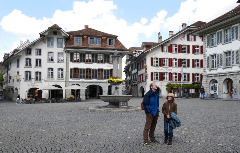 Tagesausflug nach Thun mit Kind, Marktplatz