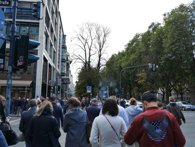 Düsseldorfer Kö am Samstag.