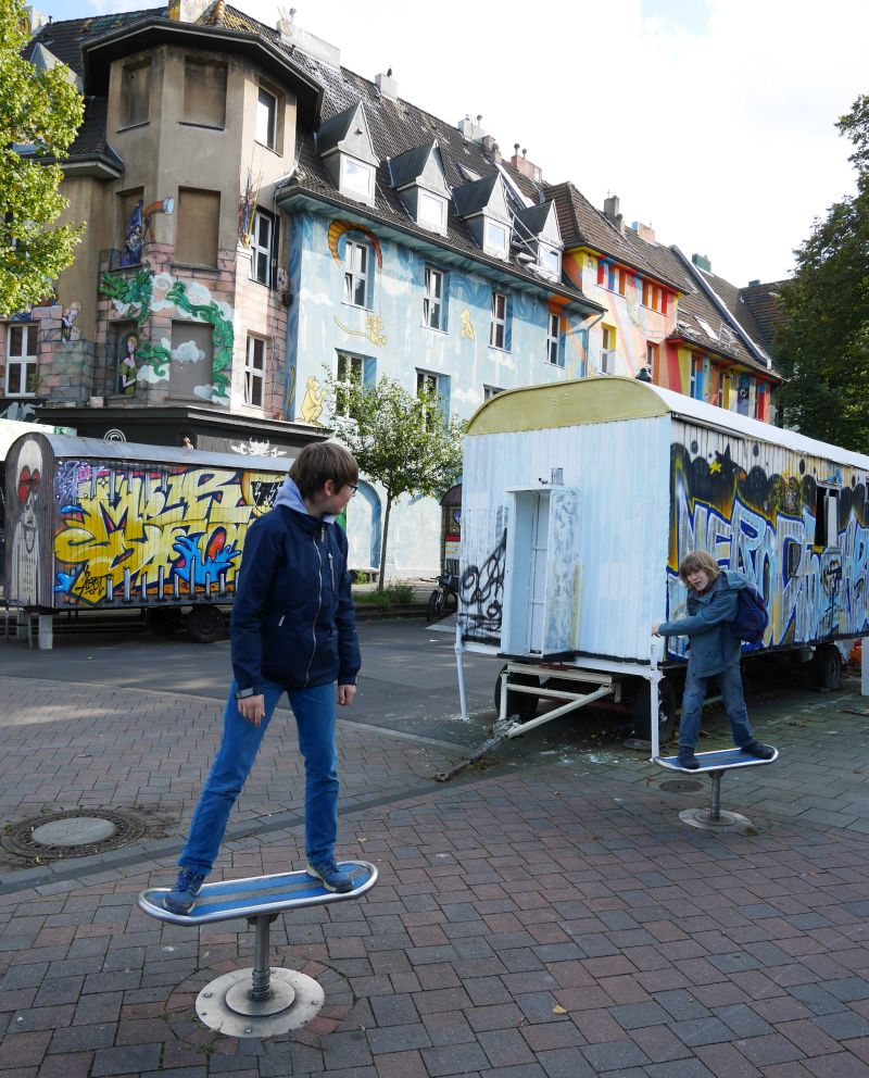 Streetart Kiefernstraße Düsseldorf mit Kindern