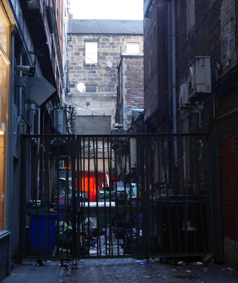 Tagesausflug nach Glasgow mit Kindern, dunkle Ecken