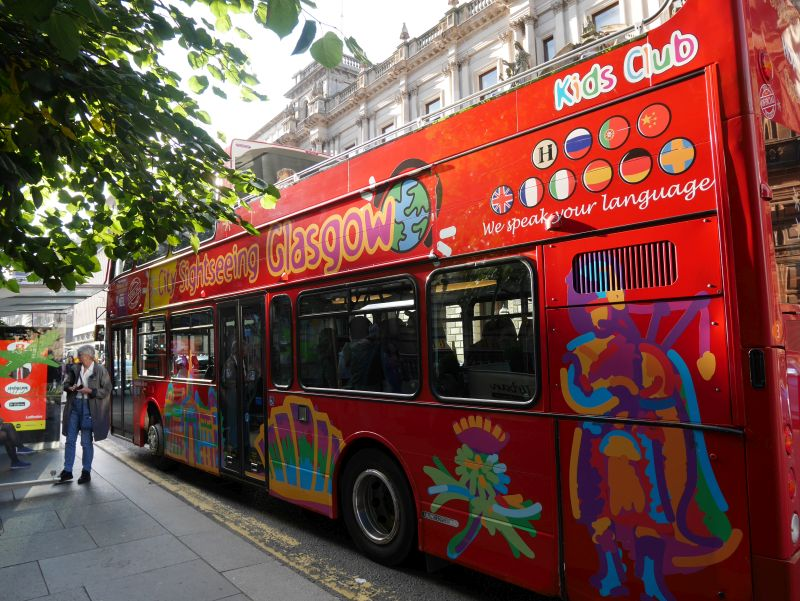 Tagesausflug nach Glasgow mit Kindern, Sightseeing Bus hop on hop off