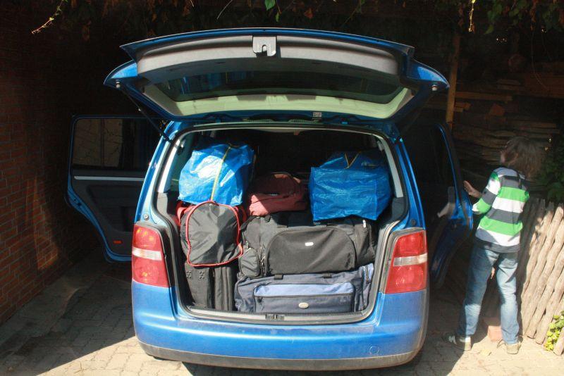 Langzeitreise mit Kindern, Kofferraum voll Gepäck, Die Entdeckung Europas