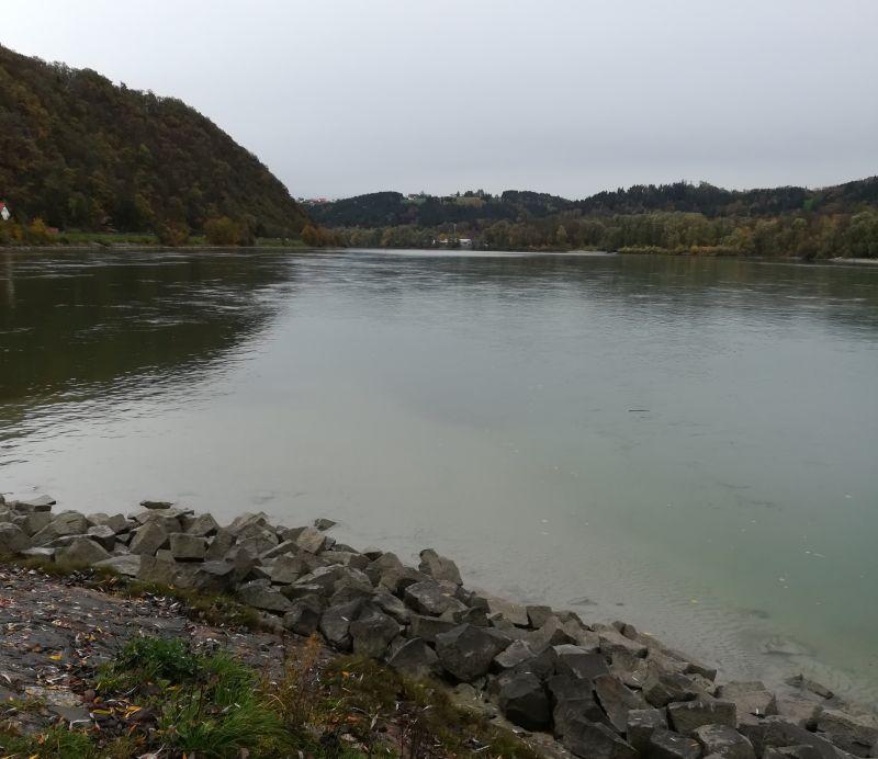 Passau, Zusammenfluss von Donau und Inn