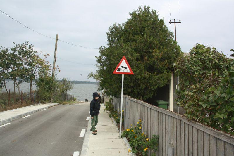 Rumänien Donaudelta Murighiol Ende der Straße