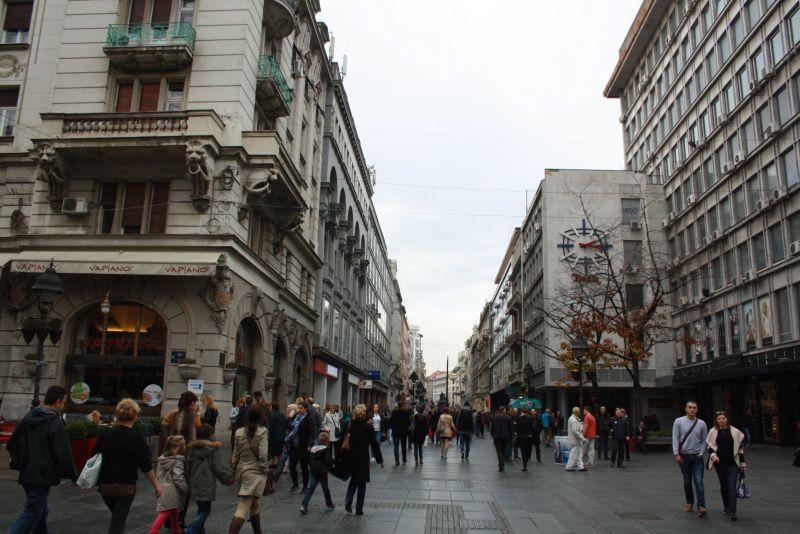 Belgrad, Fußgängerzone.