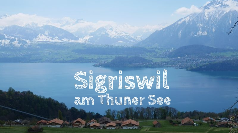 Sigriswil am Thuner See, Schweiz mit Kind