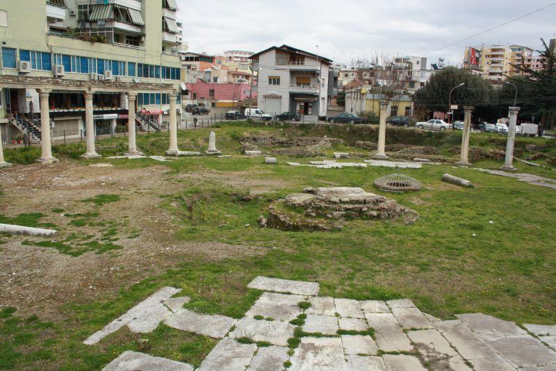 Griechischer Marktplatz, Durres, Albanien
