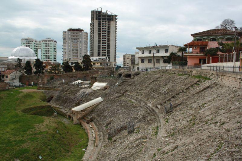 Amphitheater von Durres, Urlaub in Albanien