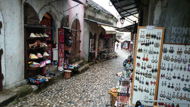 Die Gassen der Altstadt von Mostar.