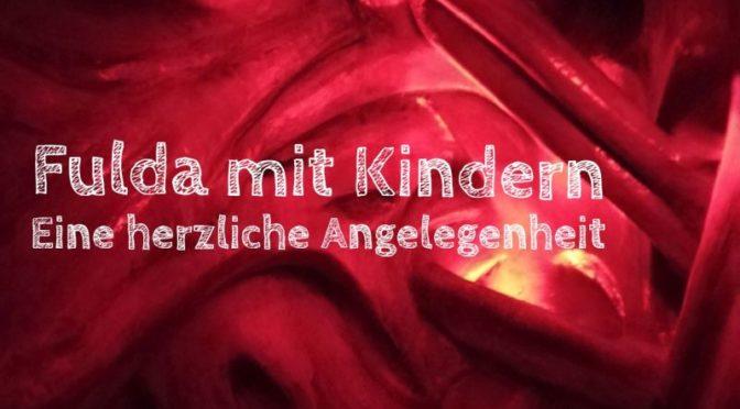 Fulda mit Kindern, begehbares Herz Kinderakademie