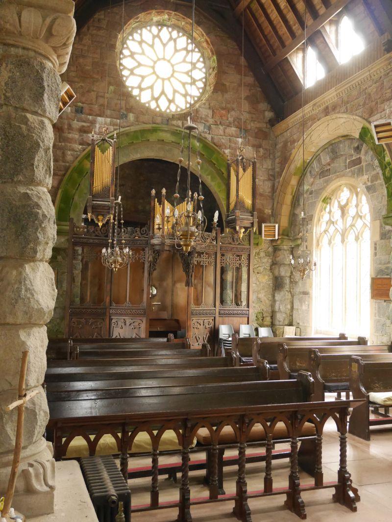 St. Conan's Kirk, Dalmally, Loch Awe, Schottland, Orgel
