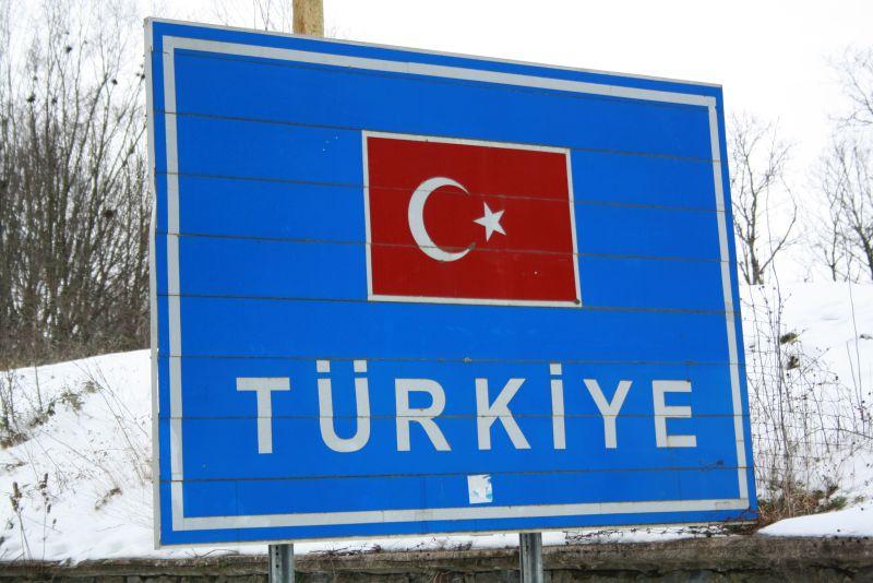 Türkei auf dem Landweg Grenze