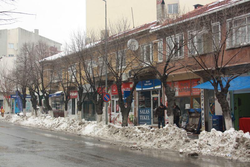 Die Geschäftsstraße von Vize, Türkei.