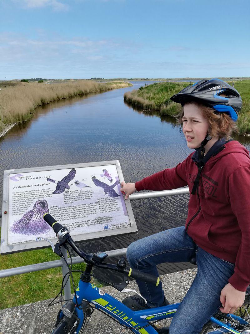 Fahrradtour Borkum mit Kindern Tüskendör