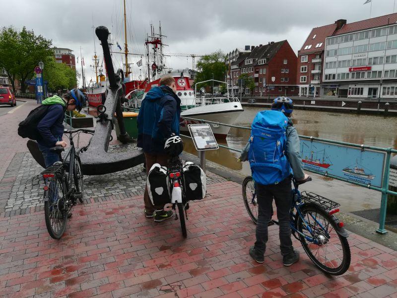 Fahrrad Backpacking mit Kindern in Emden