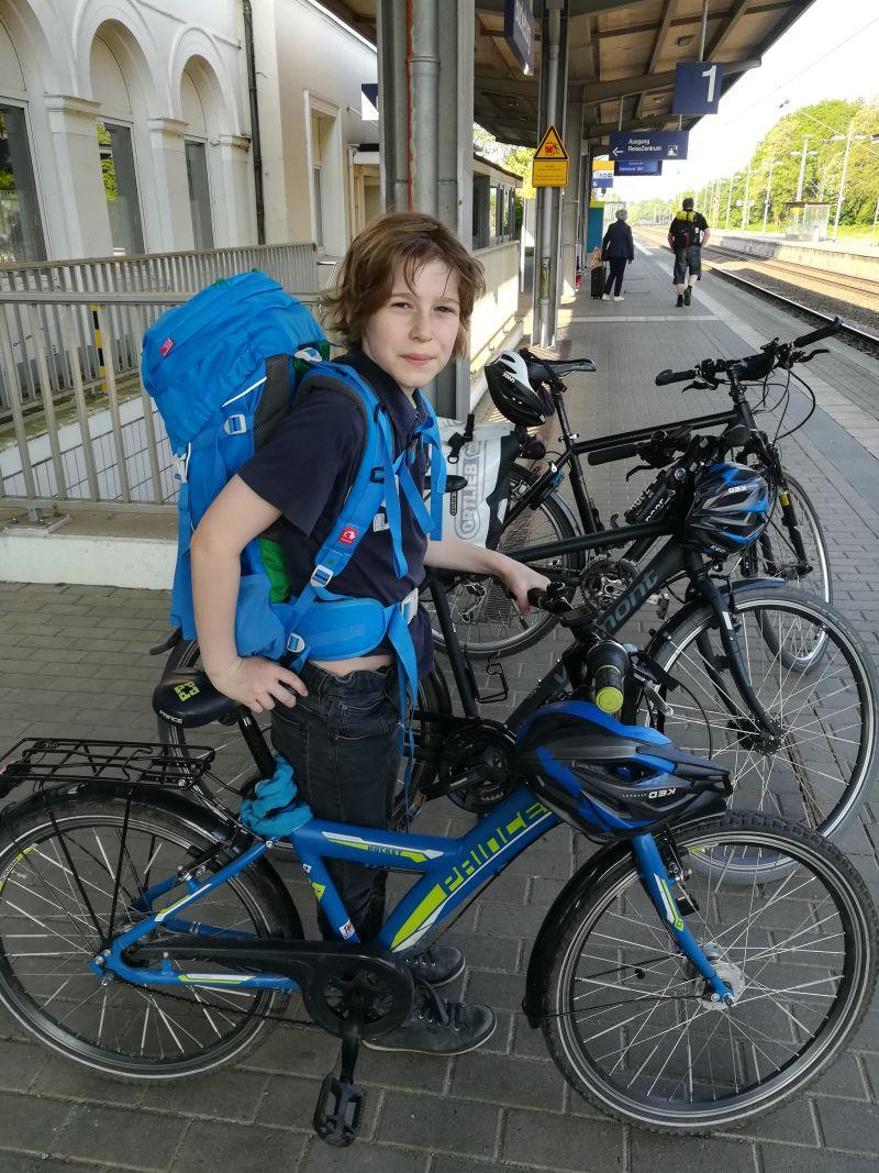 Mit Rädern, Kindern und Gepäck