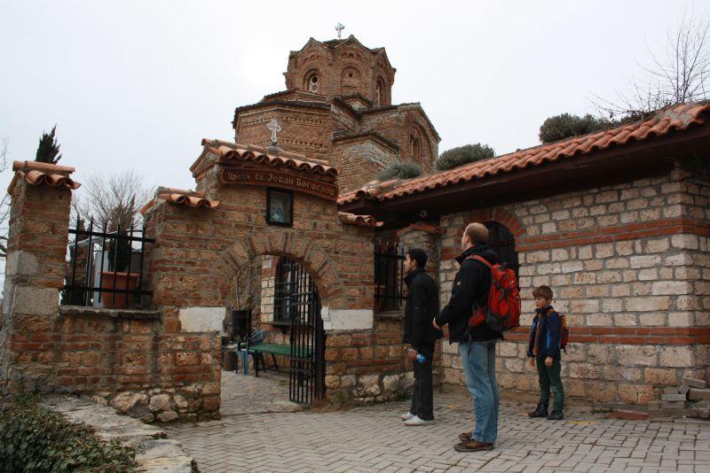 Ohrid, Mazedonien mit Kindern, Kirche