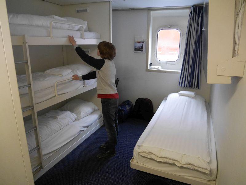Schottland-Fähre DFDS Amsterdam-Newcastle 5-Bett-Kabine