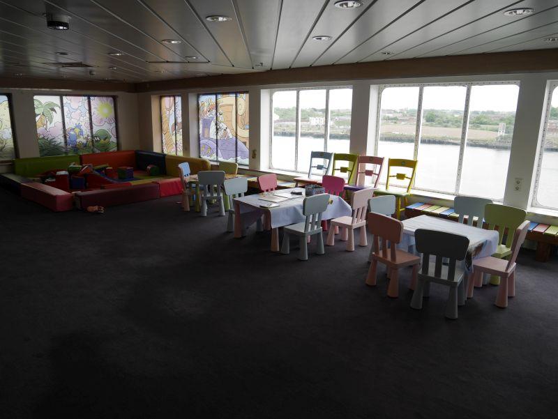 Die Spielecke auf der Princess Seaways.
