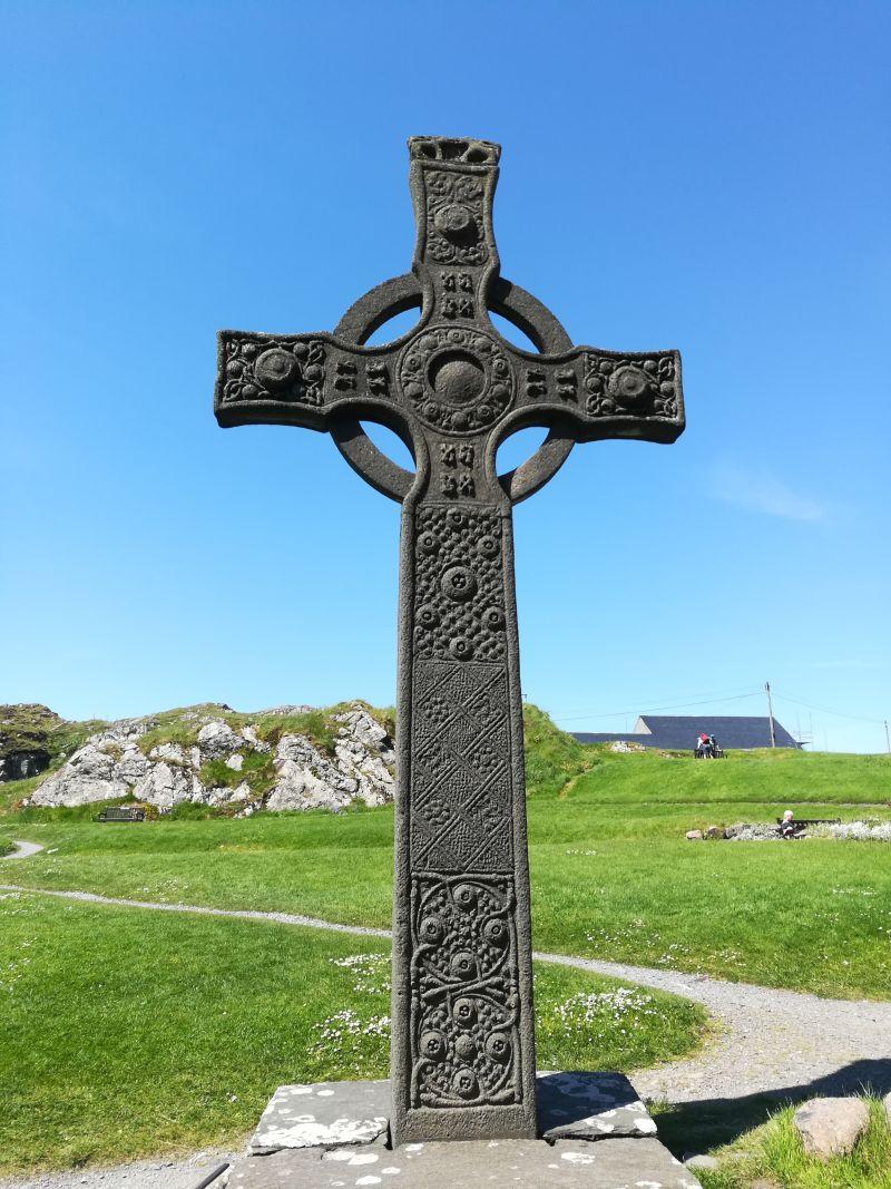 keltisches Hochkreuz, Iona Abbey, Schottland