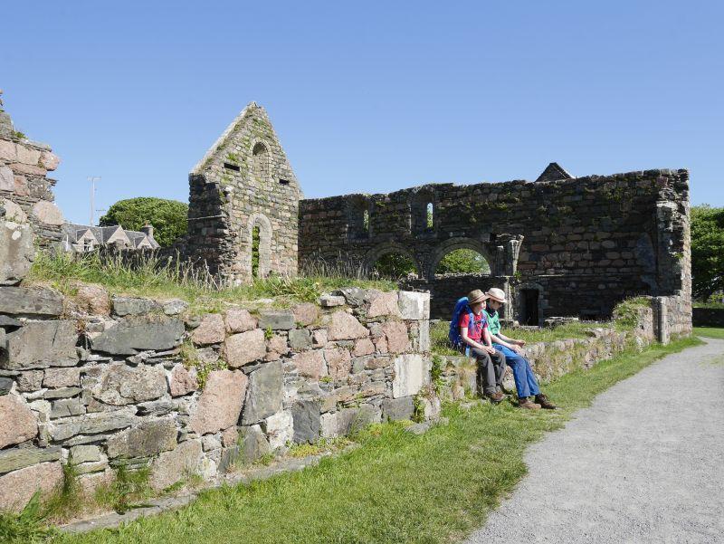 Iona, Schottland mit Kindern, Nonnenkloster