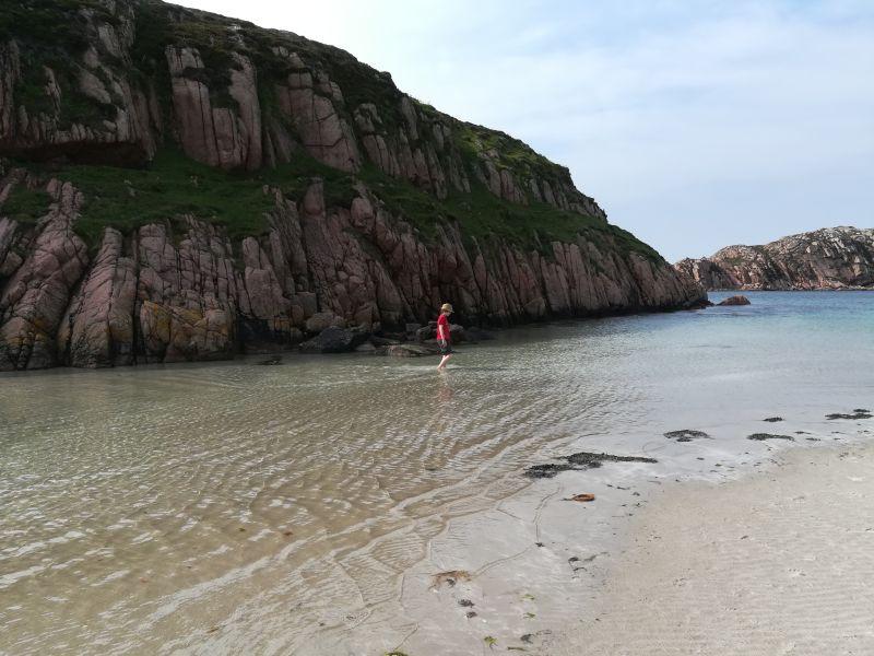 Strandurlaub in Schottland, Baden im Meer in Schottland