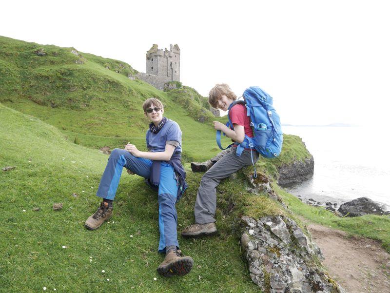 Gylen Castle, Kerrera, Schottland mit Kindern