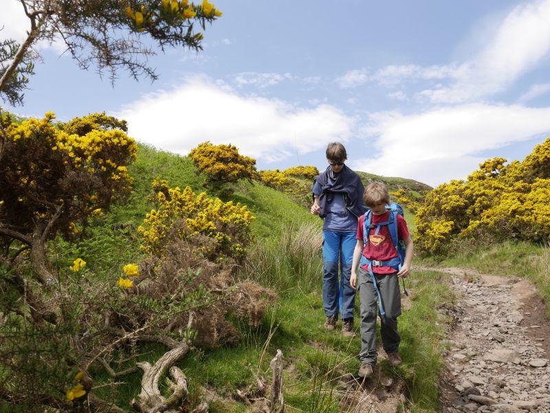 schottland kerrera wandern mit kindern