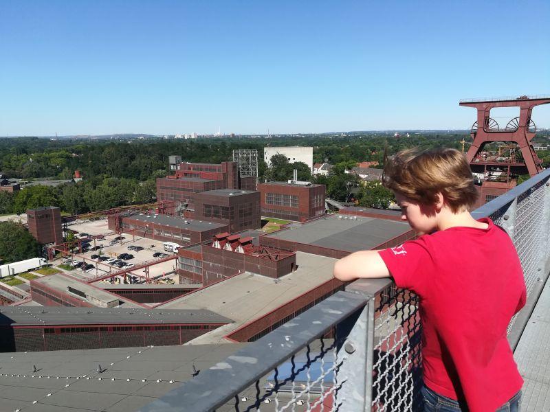 Zeche Zollverein Essen mit Kindern, Dachterrasse