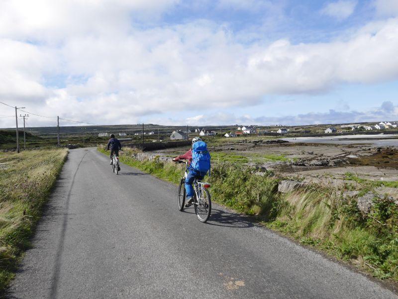arran islands mit fahrrad und kindern