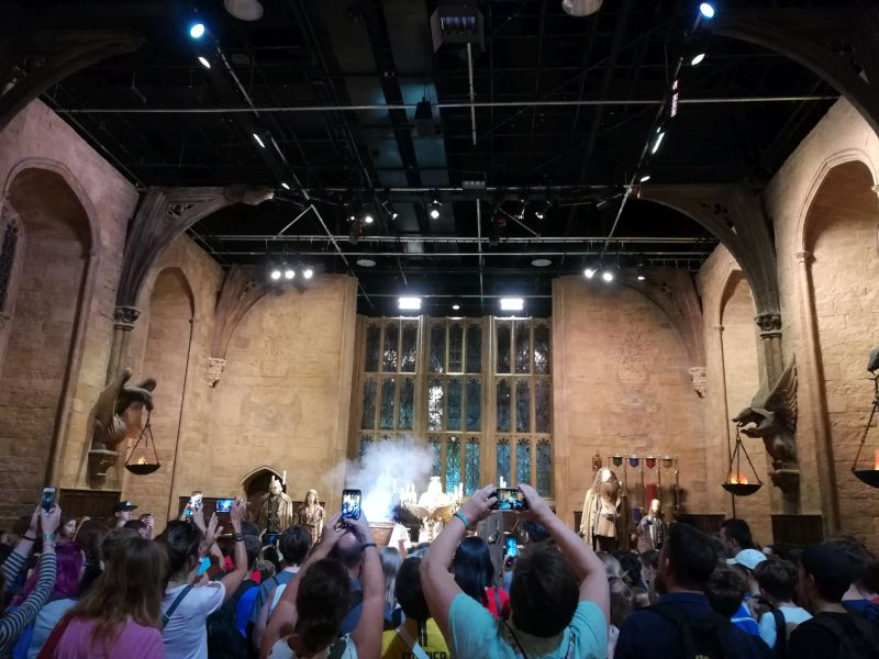 Harry Potter London mit Kindern, Warner Bros Studio Tour, große Halle Hogwarts