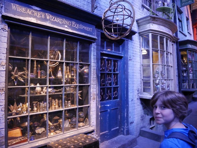 Harry Potter London mit Kindern, Warner Bros Studio Tour, Winkelgasse