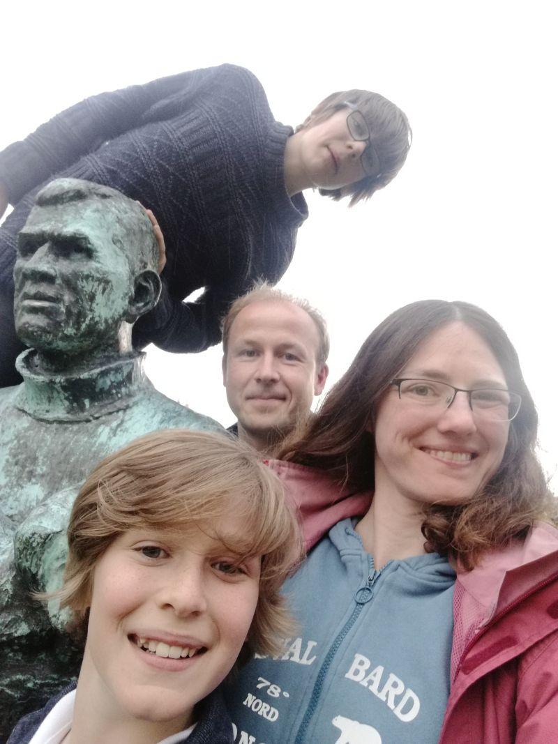 Familienfoto mit Tom Crean