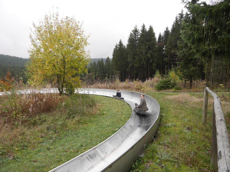 familienurlaub in sachsen, vogtland sommerrodelbahn klingenthal