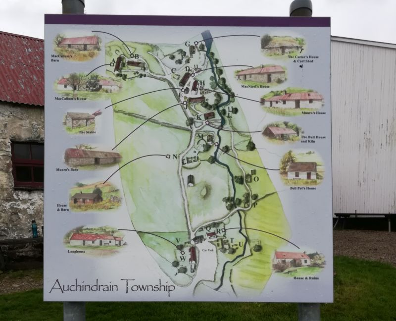 Schottland mit Kindern Ausflugstipp Freilichtmuseum Auchindrains Highlands Karte