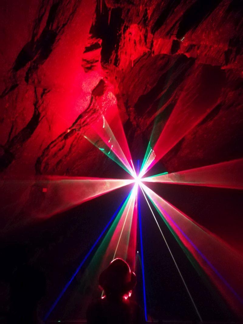 Drachenhöhle Syrau Lasershow, Vogtland mit Kindern, Sachsen