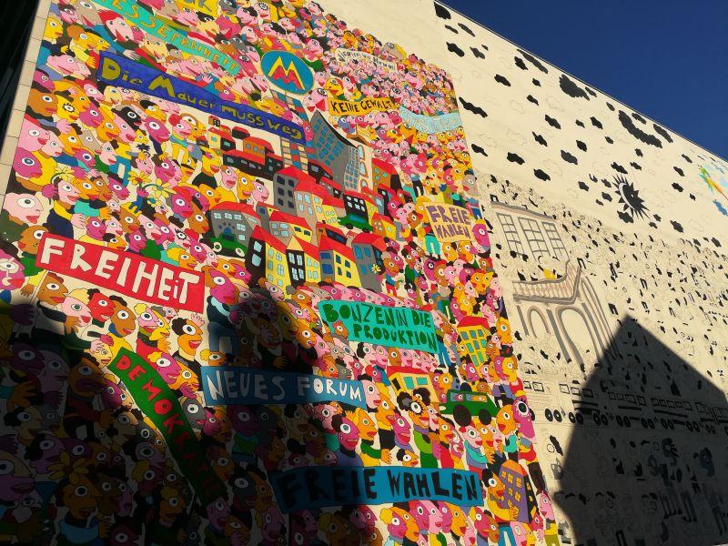 Leipzig mit Kindern, Mural