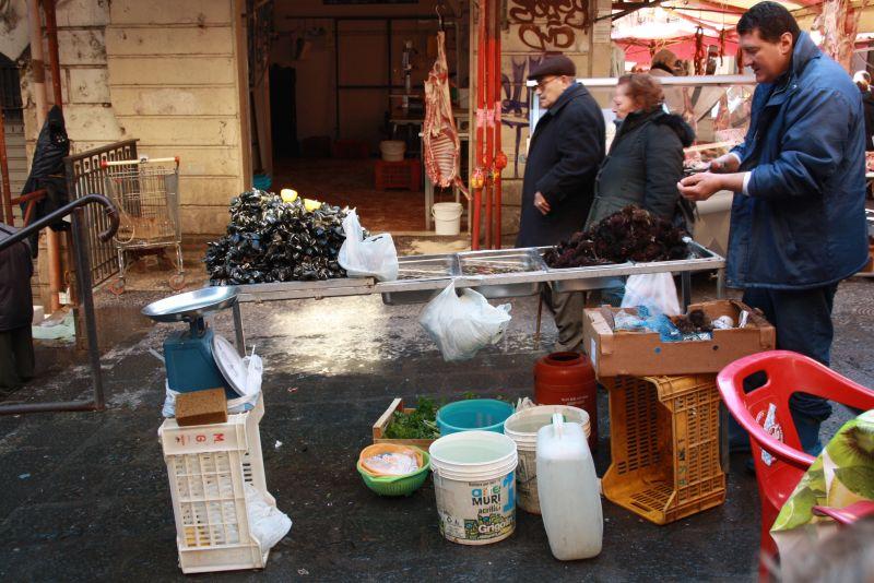 sizilien catania fischmarkt