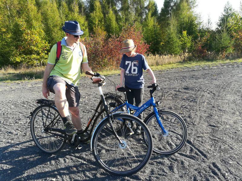 Fahrradtour, Leipziger Neuseenland mit Kindern
