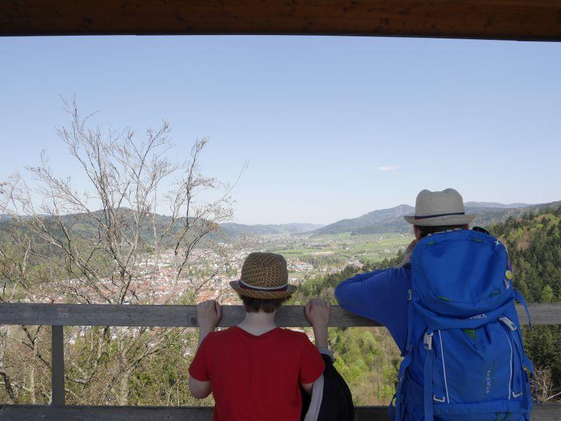 Aussicht vom Baumkronenpfad Waldkirch