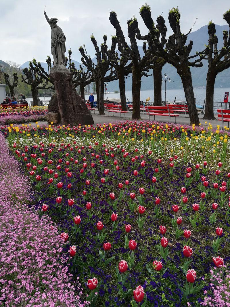Schweiz, Tessin, Lugano promenade