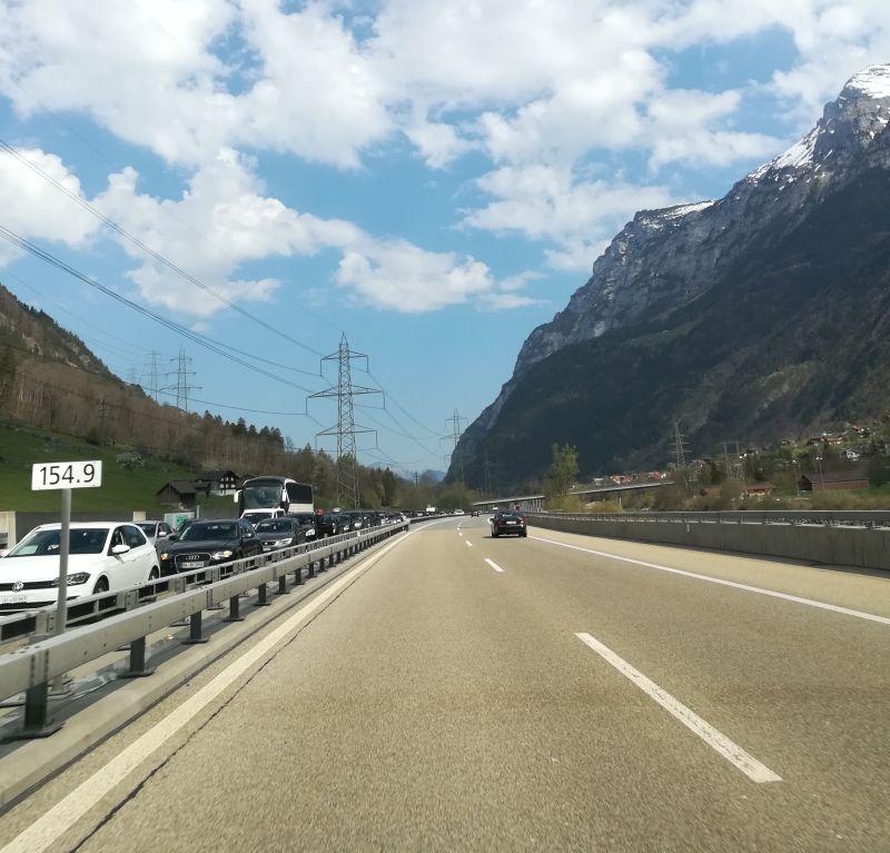 Schweiz Autobahn Gotthard-Tunnel