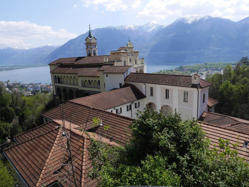 Klosteranlage Madonna del Sasso, Locarno, Tessin, Schweiz