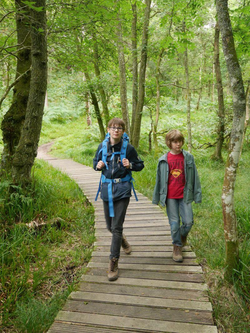loch lomond inchcaillough wandern mit kindern