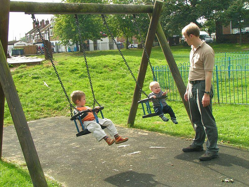 Babyschaukel Spielplatz England