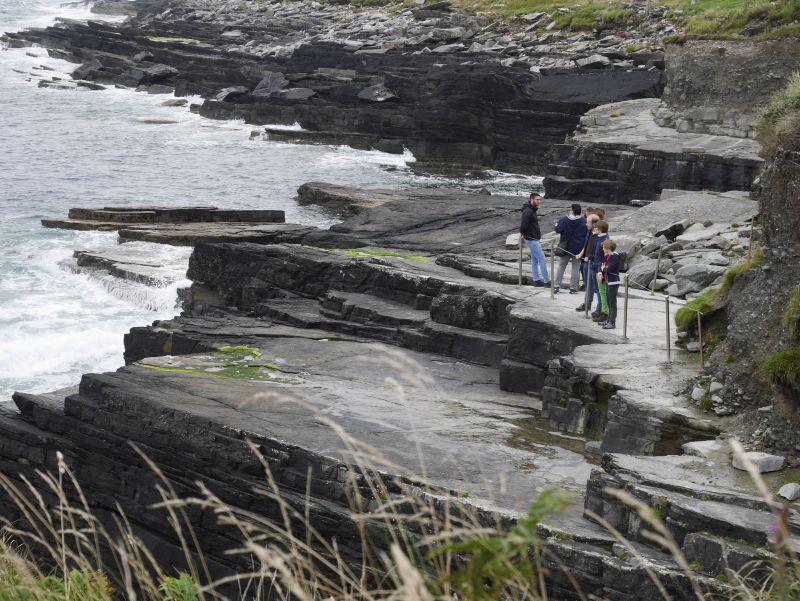 Amphibien Fußspuren Valentia Island Irland Ring of Kerry